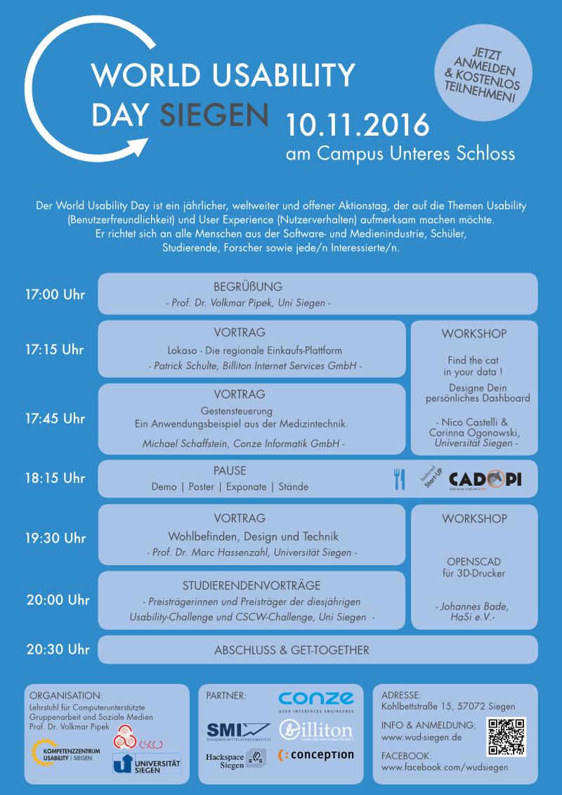 World-Usability-Day 2016 Siegen