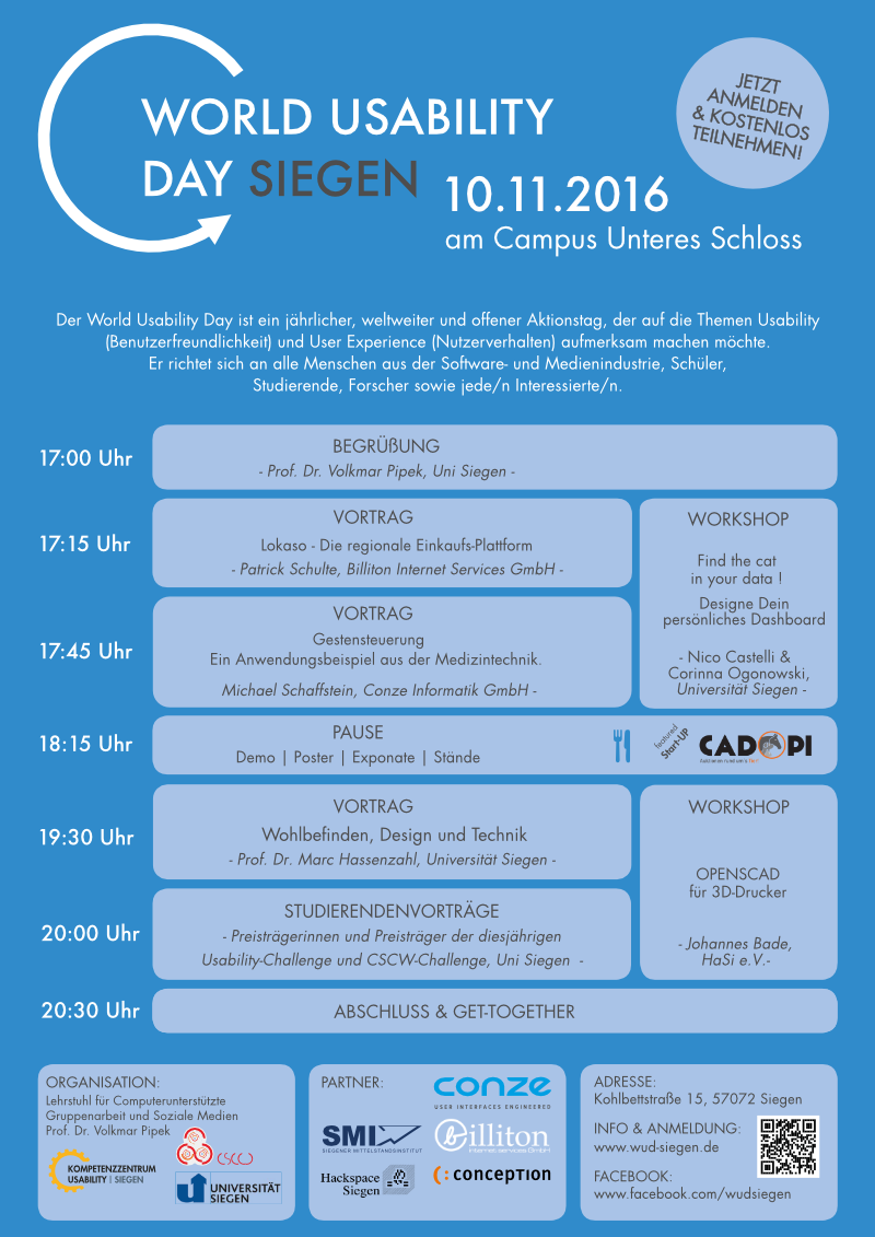 World-Usability-Day 2016 Siegen